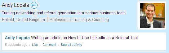 LinkedIn snapshot