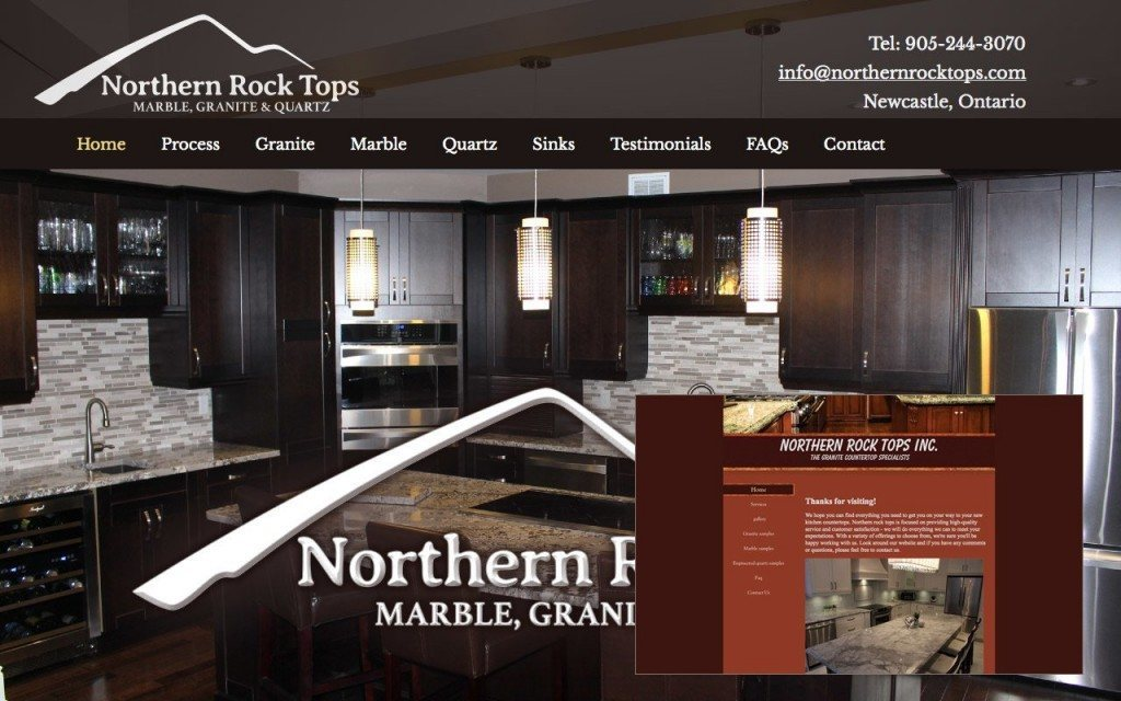 Before and After Website Northern Rock Tops