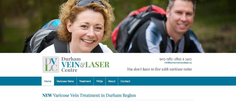 DurhamVeinandLaser.ca home page part