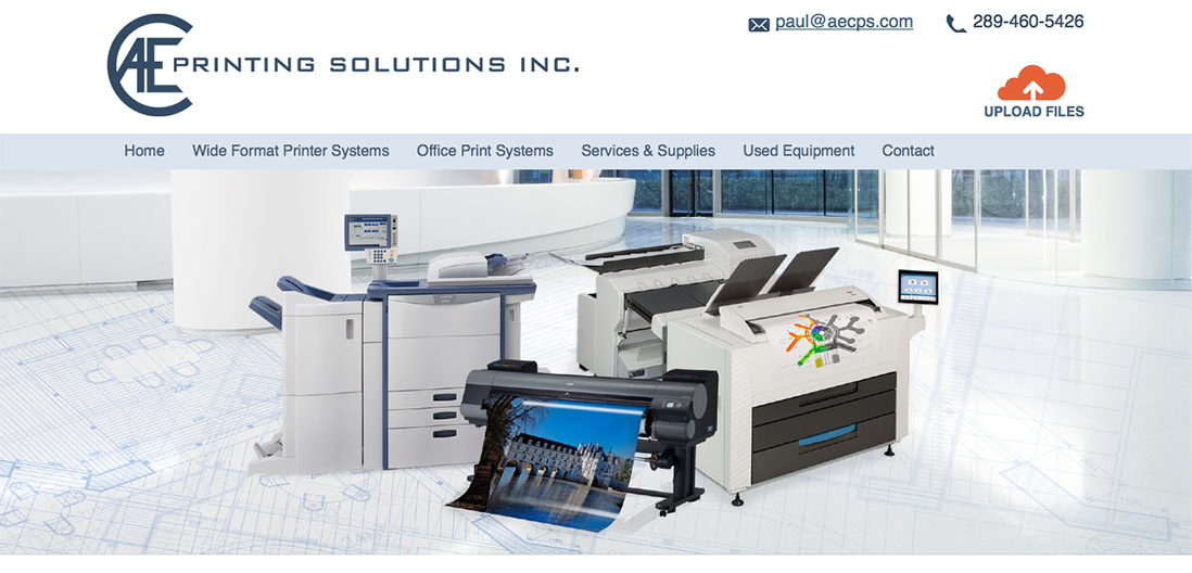 AEC Printing home page