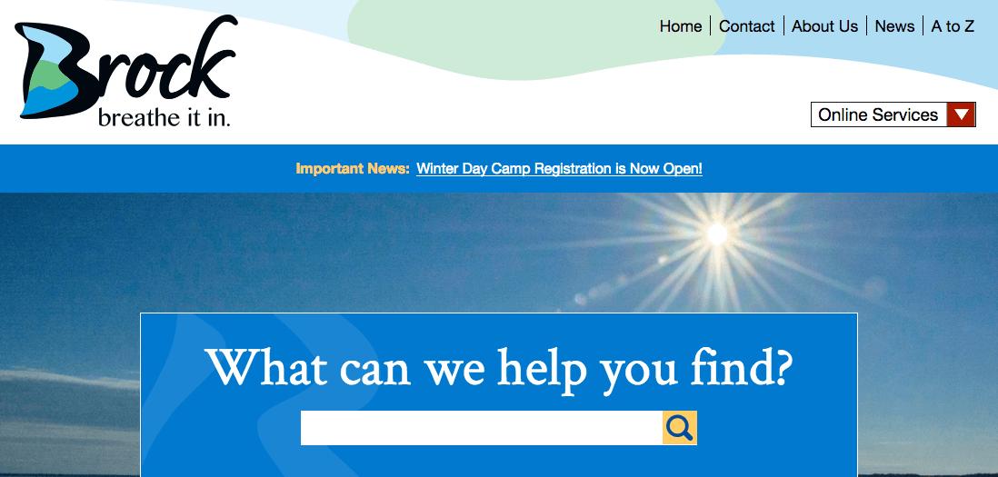 Township of Brock Website Screenshot