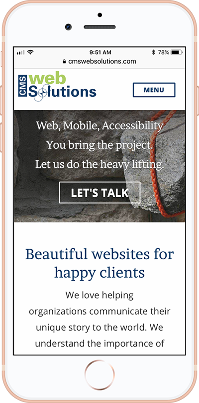 CMS Web Solutions Responsive Mobile Friendly website