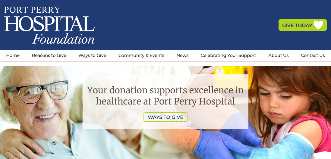 Thumbnail of Port Perry Hospital Foundation Website