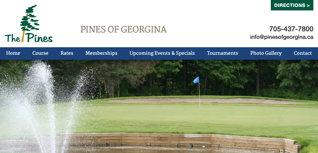 Thumbnail of Pines of Georgina Website