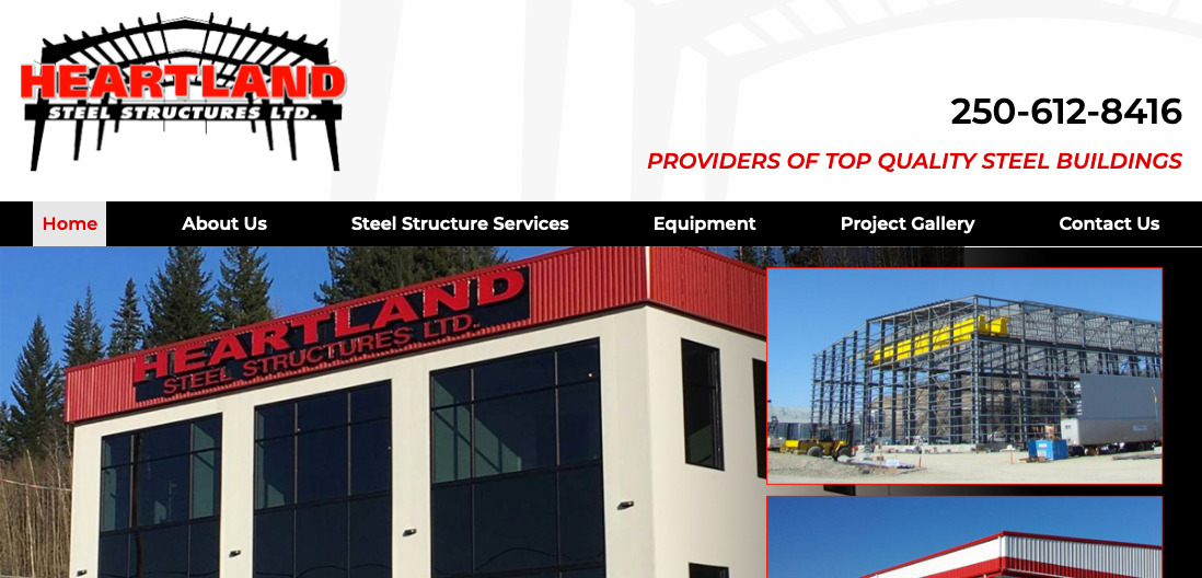 Heartland Steel Structures Website thumbnail