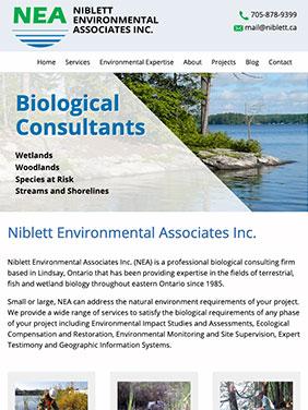 NEA website screen shot