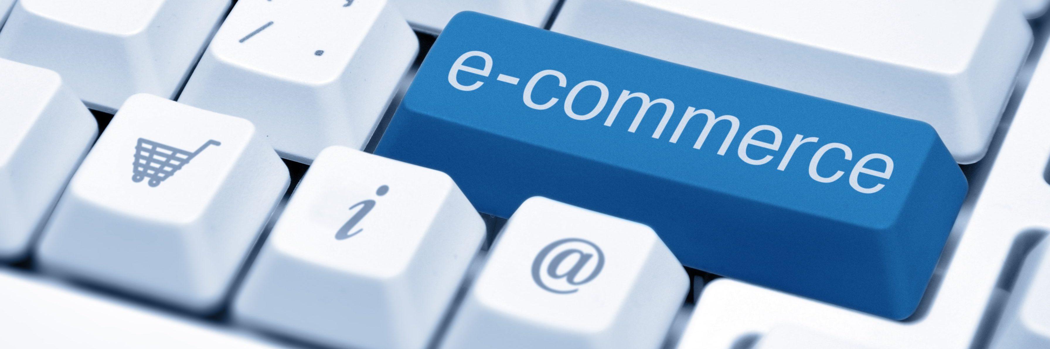 e-commerce key on keyboard