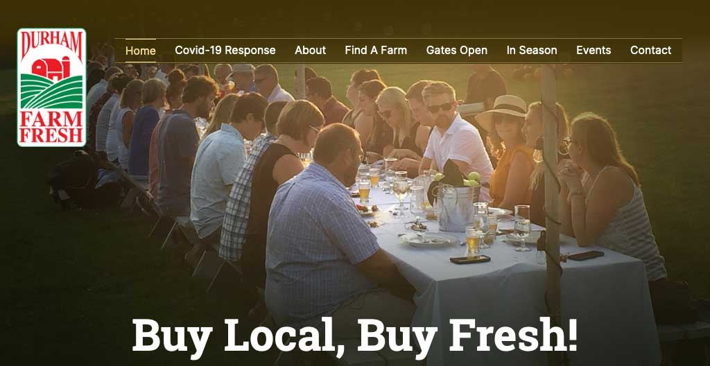Durham Farm Fresh website thumbnail