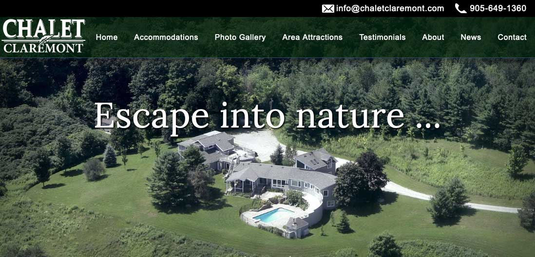 Chalet Claremont Home page thumbnail