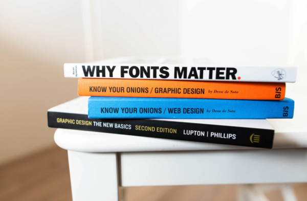 Stack of Graphic Design Books